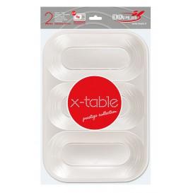 "Bandeja de Plastico PP ""X-Table"" 3C Perla 330x230mm (30 Uds)"