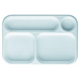 Bandeja de Plastico PS Blanca 4C 360x240mm (100 Uds)