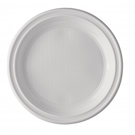 Plato de Plastico PS Llano Blanco 220 mm (1600 Uds)