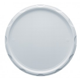 Plato de Plastico PS para Pizza Blanco 320 mm (500 Uds)