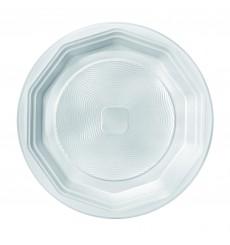 Plato de Plastico Hondo Blanco PS 220 mm (100 Uds)