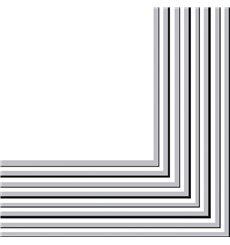Servilleta de Papel 2 Capas Plata 33x33 cm (480 Uds)