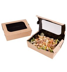 Caja de Carton Kraft con Ventana 180x117x55mm (175 Uds)