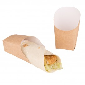 Envase Carton Kraft para Wraps 60x50x120mm (25 Uds)