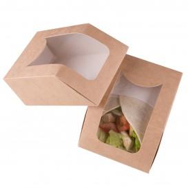 Caja de Carton Kraft con Ventana 90x51x120mm (500 Uds)
