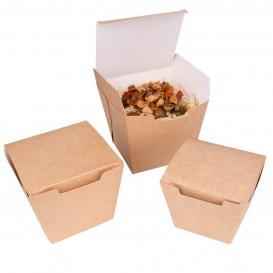 Caja de Comida para Llevar Wok Kraft 450ml (300 Uds)