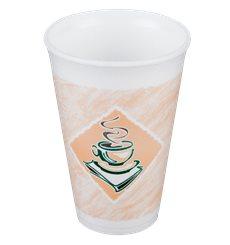 "Vaso Termico Foam EPS ""Café"" 16Oz/473 ml (25 Unidades)"