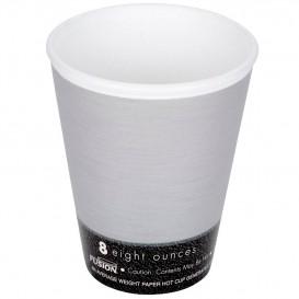 "Vaso Termico Foam ""Fusion"" Gris 8Oz/266ml Ø8,1cm (25 Uds)"