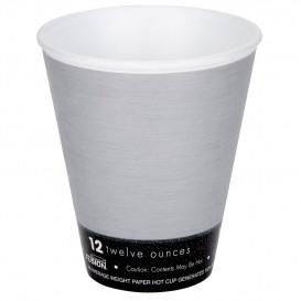 "Vaso Termico Foam ""Fusion"" Gris 12Oz/355ml Ø9,4cm (25 Uds)"