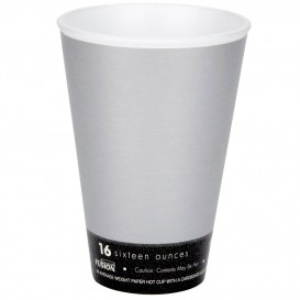 """Vaso Termico Foam """"Fusion"""" Gris 16Oz/473ml Ø94mm Ø94mm (1000 uds)"""