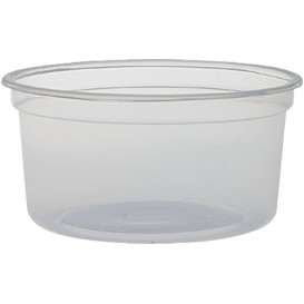 "Envase Plastico PP ""Deli"" 12Oz/355ml Transp. Ø120mm (25 Uds)"