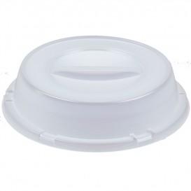 Tapa de Plastico PS Translucida Plato Ø230mm (125 Uds)