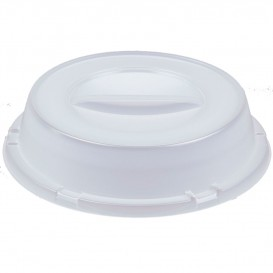Tapa Alta de Plastico PS Translucida para Plato Ø240mm (500 Uds)