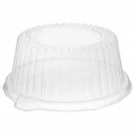 Tapa Cúpula de Plástico PS Cristal Ø15x6,4cm (125 Uds)