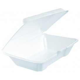 Envase Foam LunchBox Blanco 230x150mm (200 Uds)