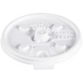 "Tapa de Plastico PS ""Lift n' Lock"" Blanca Ø7,4cm (1000 Uds)"