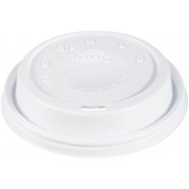 """Tapa de Plastico PS """"Cappuccino"""" Blanca Ø9,4cm (100 Uds)"""
