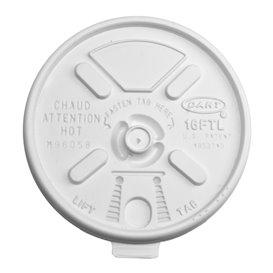"Tapa de Plastico PS ""Lift n' Lock"" solapa Blanca Ø9,4cm (100 Uds)"