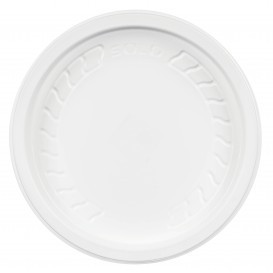 "Tapa de Plastico PP ""Deli"" Blanco Ø120mm (500 Uds)"