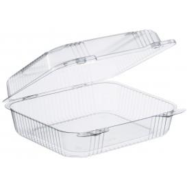 """Envase Plástico OPS """"StayLock"""" Bisagra Transp. 1260ml (250 Uds)"""