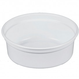 "Envase Plastico PP ""Deli"" 8Oz/266ml Blanco Ø120mm (25 Uds)"