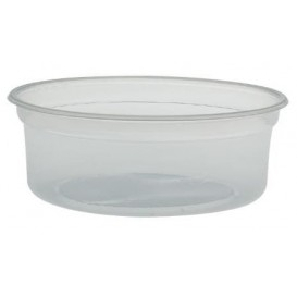 "Envase Plastico PP ""Deli"" 8Oz/266ml Transp Ø120mm(500 Uds)"