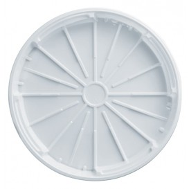 Tapa de Plastico PS para Pizza Blanco 320 mm (100 Uds)
