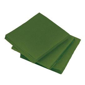 Servilleta de Papel Micropunto 20x20cm Verde (100 Uds)