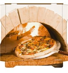 Cajas para Pizza Al Bassanello Forno 33x33x4,2 cm (100 Uds)
