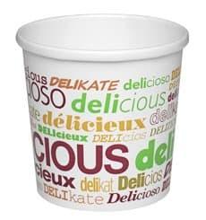 Tarrina de Cartón Delicious para Sopa 12 Oz (25 Uds)