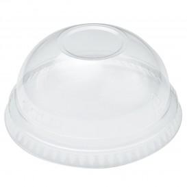 Tapa Cúpula Sin Agujero Vaso Solo Ultra Clear 9Oz Alto y 10Oz (100 Uds)