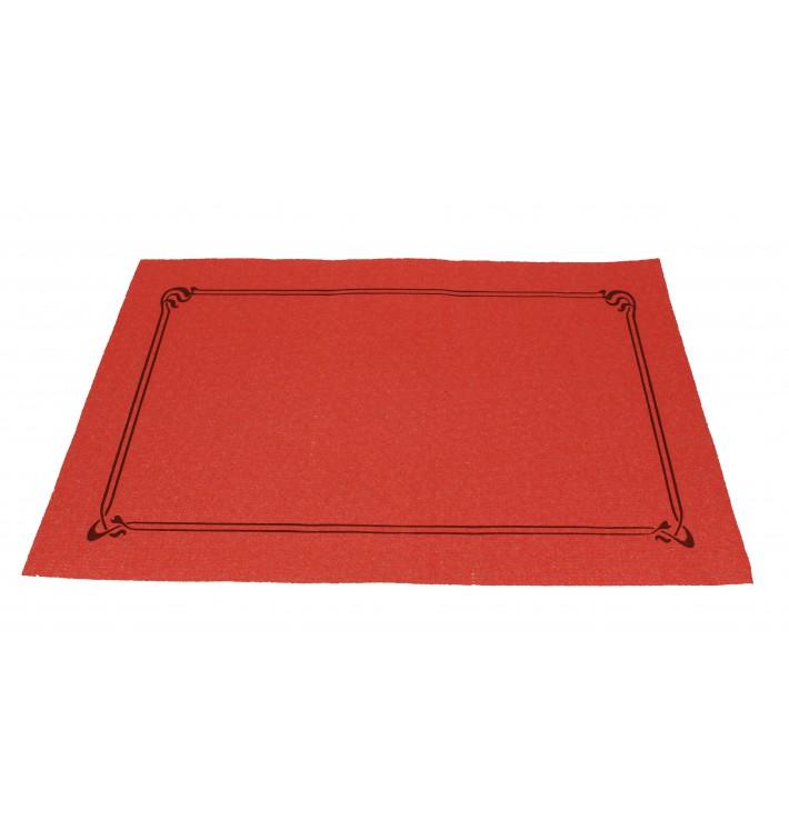 Mantel Individual Papel 30x40cm Rojo Orla 40g (1.000 Uds)