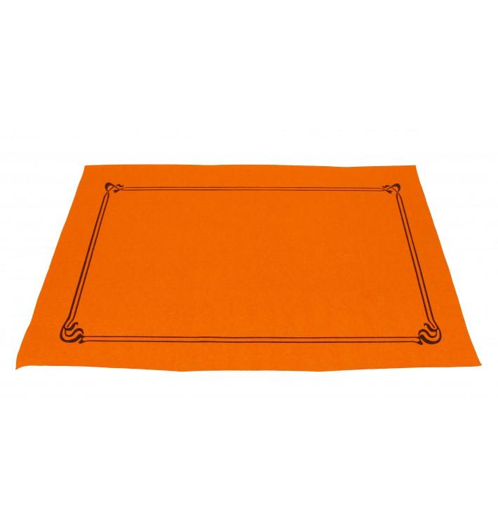 Mantel Individual Papel 30x40cm Naranja Orla 40g (1.000 Uds)