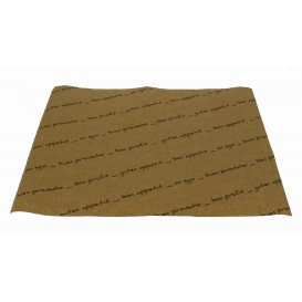 "Mantel Individual Papel 30x40cm Kraft ""Buen Provecho"" 40g (1.000 Uds)"