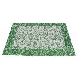"""Mantel Individual Papel 30x40cm """"Cachemir"""" Verde 50g (500 Uds)"""