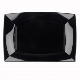 Bandeja de Plastico Negro Nice PP 345x230mm (6 Uds)