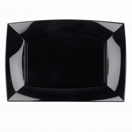 Bandeja Plastico Negro Nice PP 345x230mm (60 Uds)