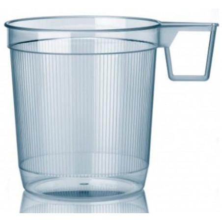 Taza de Plastico Rígida Transparente 250 ml (40 Unidades)