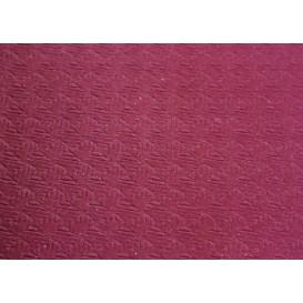 Mantel de Papel Cortado 100x100cm Burdeos 40g (400Uds)