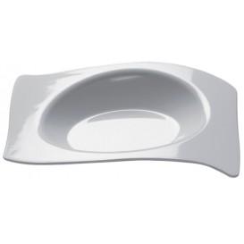 Plato Degustación Flat Blanco 8x6,6 cm (500 Uds)