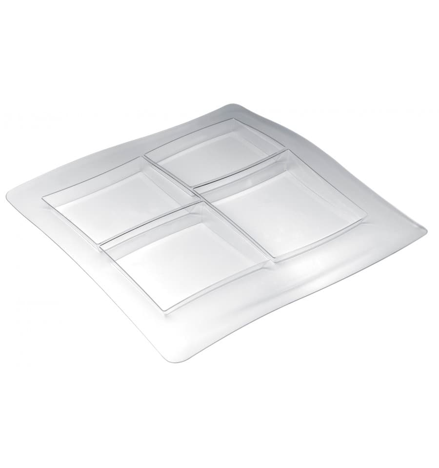 Bandeja de plastico foodpoker 4c 360x360 mm 1 ud - Bandeja de plastico ...