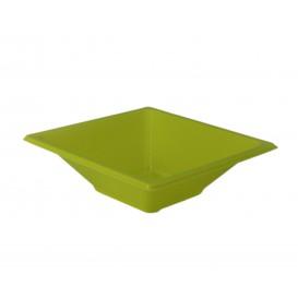 Bol de Plastico Cuadrado Pistacho 120x120x40mm (720 Uds)