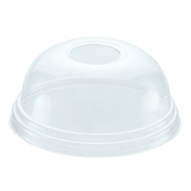 Tapa Cupula Agujero Vaso PET 215ml y 295ml Ø8,1cm (100 Uds)