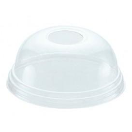 Tapa Cupula Agujero Vaso PET 215ml y 295ml Ø8,1cm (1000 Uds)