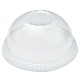 Tapa Cúpula Sin Agujero Vaso Solo Ultra Clear 16Oz  y 24Oz Ø9,86 (1000 Uds)