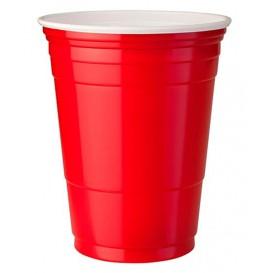 Vaso Rojo Plastico de Pet 360ml (50 Unidades)