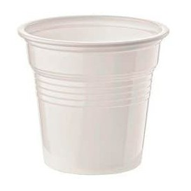 Vaso de Plastico PS Blanco 80ml Ø5,7cm (1500 Uds)