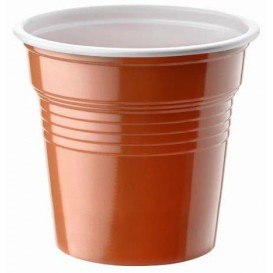 Vaso de Plastico PS Bicolor Marrón 80ml Ø5,7cm (2400 Uds)