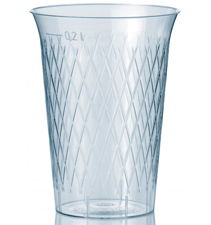 Vaso Inyectado Rombos PS 200 ml (50 Uds)