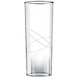 Vaso de Plastico Moon Transparente PS 300ml (10 Uds)